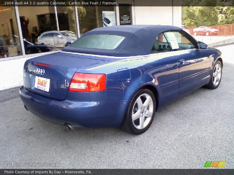2004 audi a4 3 0 quattro cabriolet in caribic blue pearl photo no 32329610. Black Bedroom Furniture Sets. Home Design Ideas