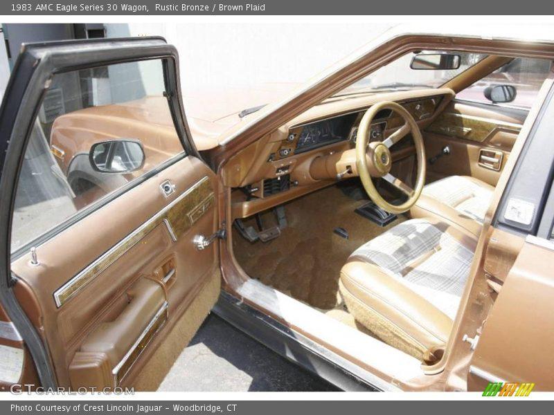 Rustic Bronze / Brown Plaid 1983 AMC Eagle Series 30 Wagon