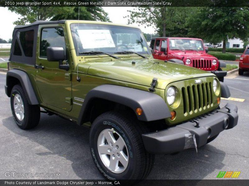2010 Jeep Wrangler Sport 4x4 in Rescue Green Metallic