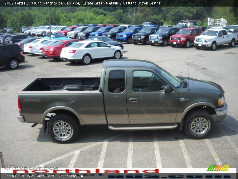 2002 ford f150 king ranch supercab 4x4 in estate green metallic photo no 32749798. Black Bedroom Furniture Sets. Home Design Ideas