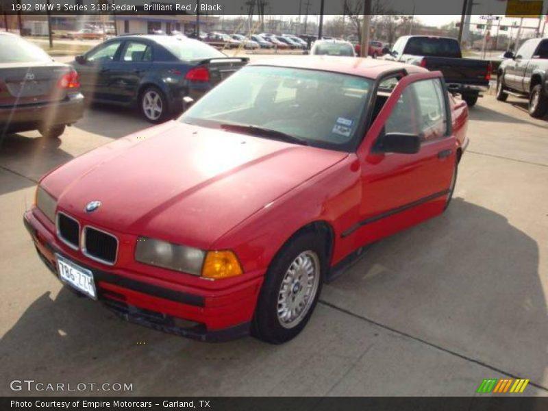 1992 bmw 3 series 318i sedan in brilliant red photo no 3285328 gtcarlot com gtcarlot com