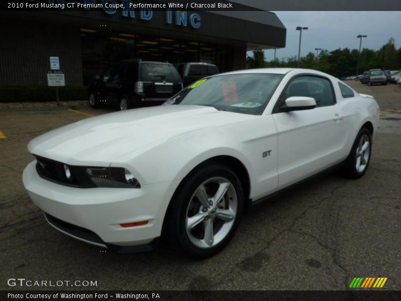 2010 ford mustang gt premium coupe in performance white photo no 32862549. Black Bedroom Furniture Sets. Home Design Ideas