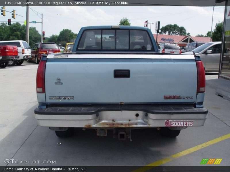 Smoke Blue Metallic / Dark Blue 1992 GMC Sierra 2500 SLX Regular Cab