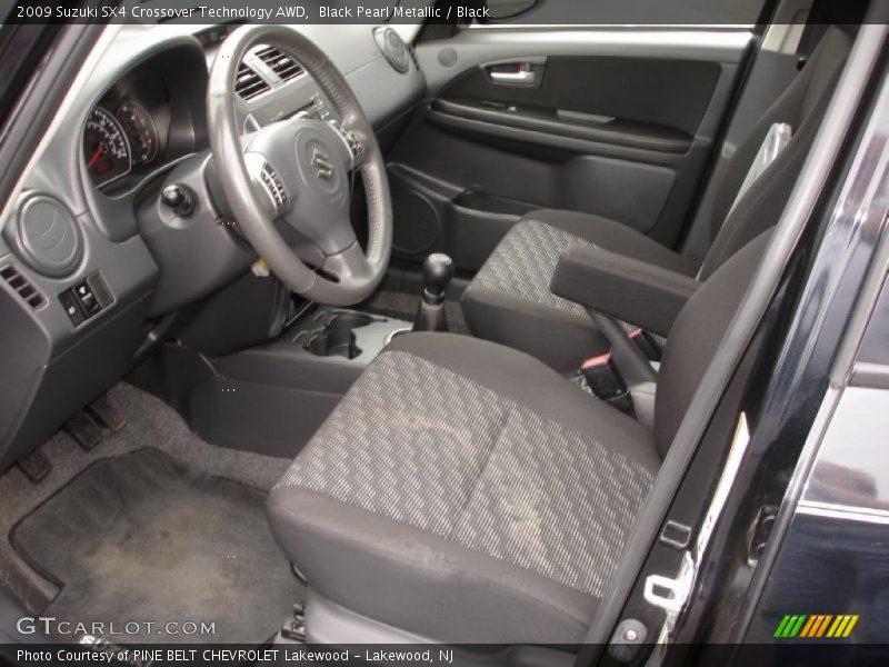 Black Pearl Metallic / Black 2009 Suzuki SX4 Crossover Technology AWD
