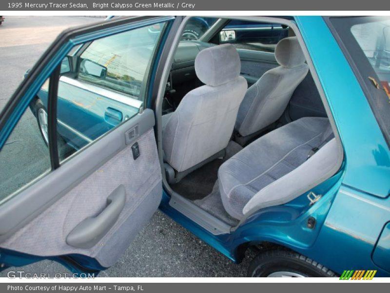 Bright Calypso Green Metallic / Grey 1995 Mercury Tracer Sedan