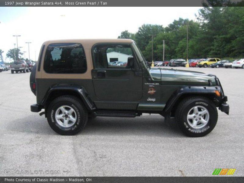 1997 jeep wrangler sahara 4x4 in moss green pearl photo no. Black Bedroom Furniture Sets. Home Design Ideas