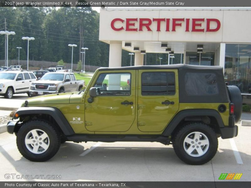 2007 Jeep Wrangler Unlimited X 4x4 in Rescue Green