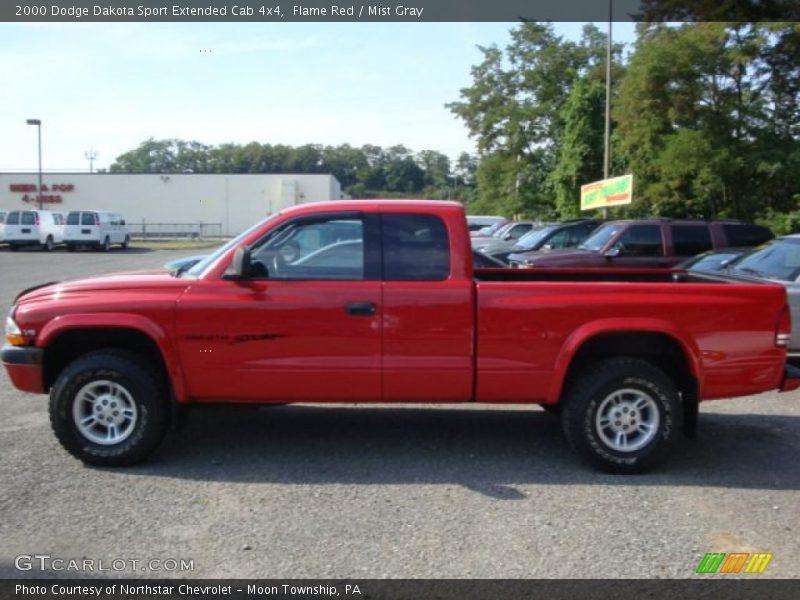 2000 dodge dakota sport extended cab 4x4 in flame red photo no 34409688. Black Bedroom Furniture Sets. Home Design Ideas