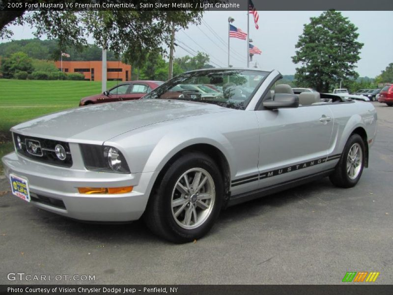 2005 ford mustang v6 premium convertible in satin silver metallic photo no 34430144. Black Bedroom Furniture Sets. Home Design Ideas