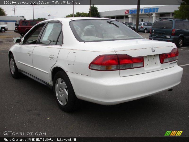 2001 Honda Accord Lx V6 Sedan In Taffeta White Photo No