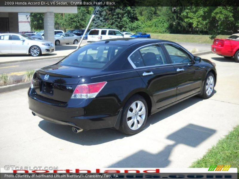 2009 honda accord ex l v6 sedan in crystal black pearl. Black Bedroom Furniture Sets. Home Design Ideas