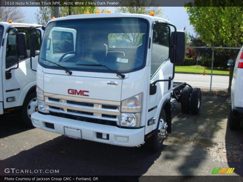 Arctic White / Very Dark Pewter 2010 Isuzu N Series Truck NPR