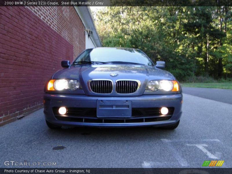 Steel Blue Metallic / Grey 2000 BMW 3 Series 323i Coupe