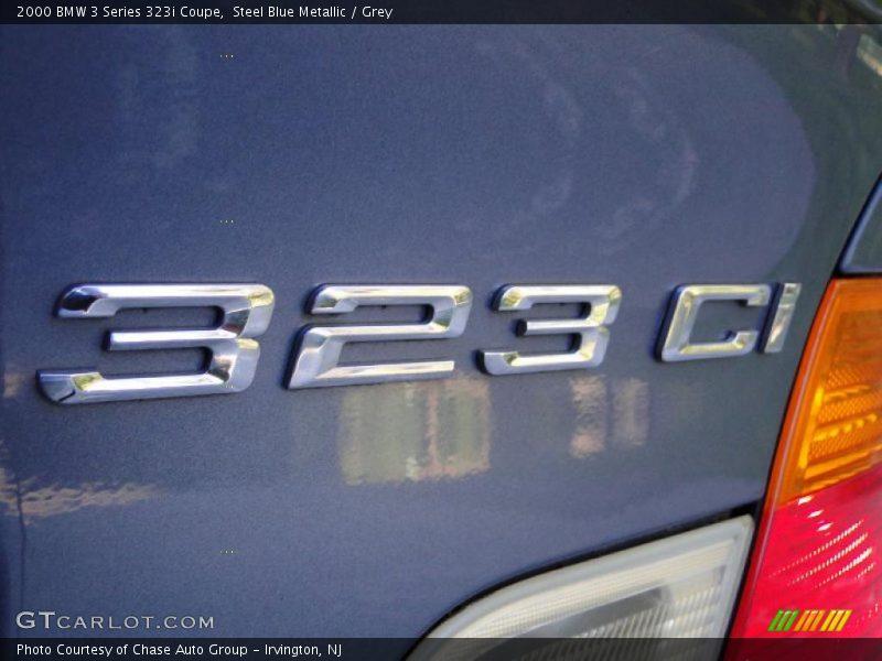 Steel Blue Metallic / Grey 2000 BMW 3 Series 323i Coupe