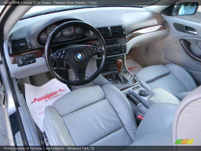 Titanium Silver Metallic / Grey 2000 BMW 3 Series 323i Coupe