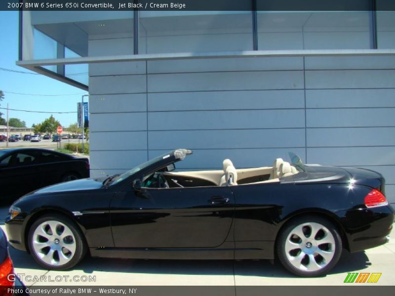 2007 Bmw 6 Series 650i Convertible In Jet Black Photo No