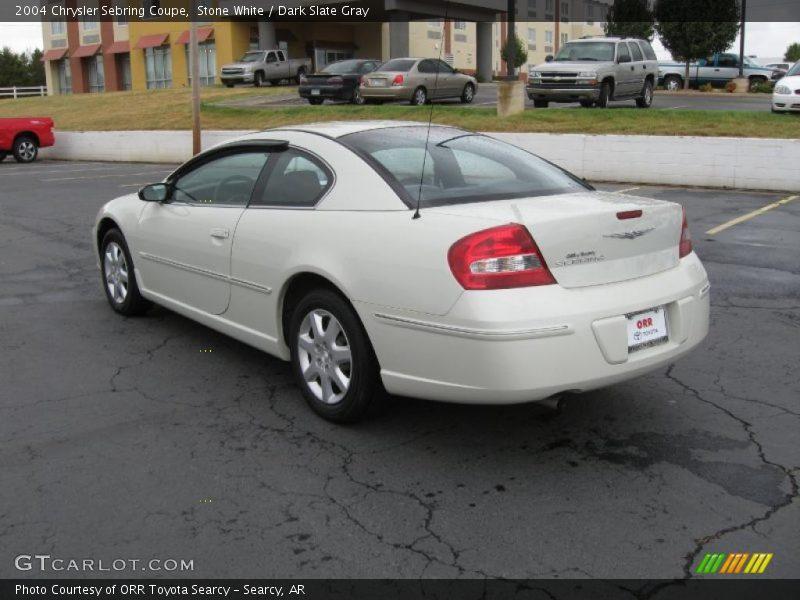 Stone White / Dark Slate Gray 2004 Chrysler Sebring Coupe Photo #4
