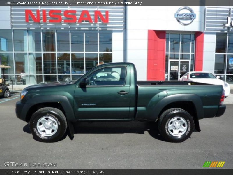 2009 toyota tacoma regular cab 4x4 in timberland green mica photo no 36102930. Black Bedroom Furniture Sets. Home Design Ideas