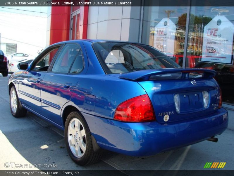 2006 nissan sentra 1 8 s special edition in sapphire blue metallic photo no 36442411. Black Bedroom Furniture Sets. Home Design Ideas