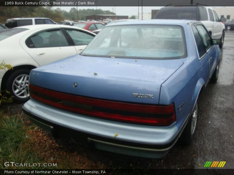 1989 Buick Century Coupe in Blue Metallic Photo No. 36567043 ...
