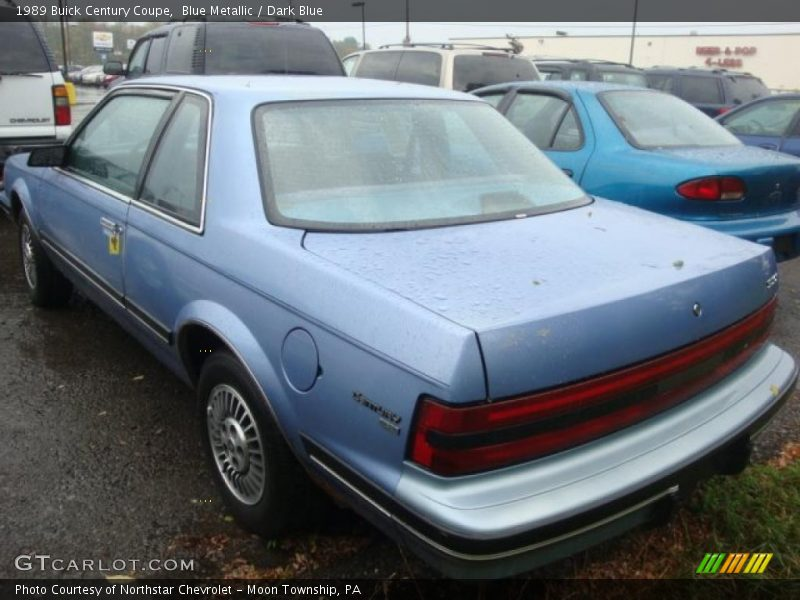 1989 Buick Century Coupe in Blue Metallic Photo No. 36567059 ...