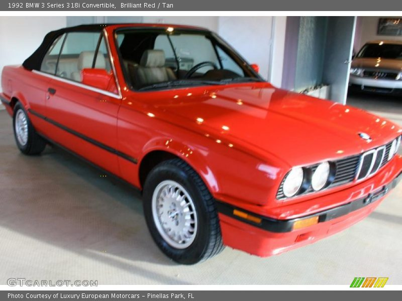 1992 Bmw 3 Series 318i Convertible In Brilliant Red Photo