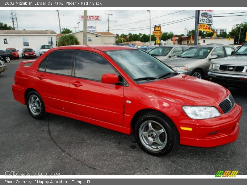2003 mitsubishi lancer oz rally in phoenix red photo no. Black Bedroom Furniture Sets. Home Design Ideas