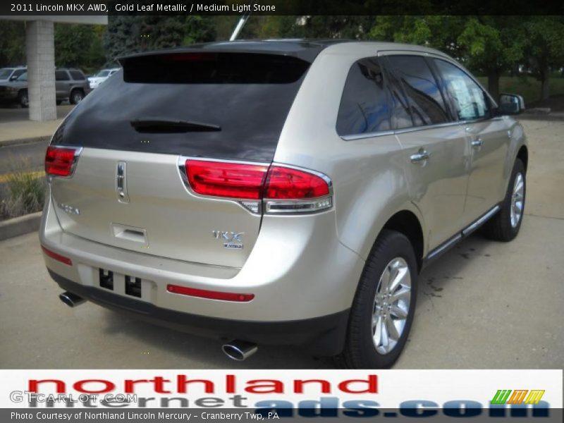 Gold Leaf Metallic / Medium Light Stone 2011 Lincoln MKX AWD
