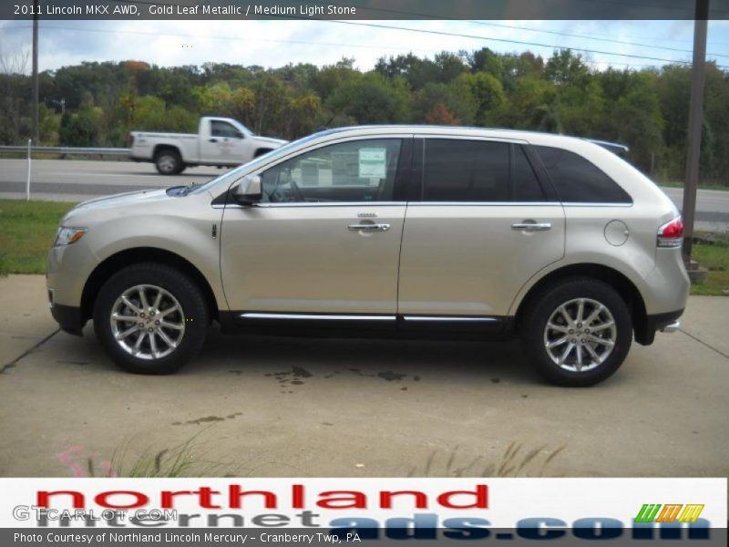 Gold Leaf Metallic / Medium Light Stone 2011 Lincoln MKX AWD
