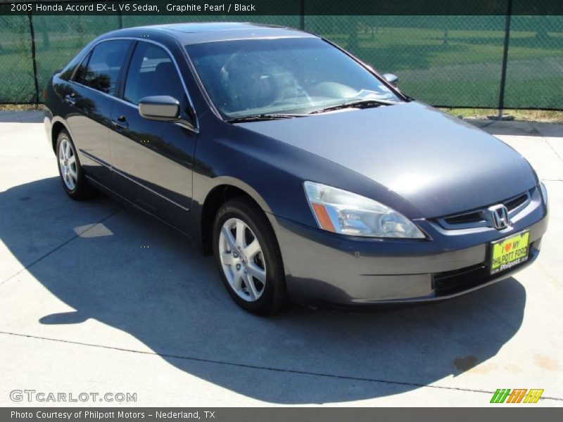 2005 honda accord ex l v6 sedan in graphite pearl photo no 37649686. Black Bedroom Furniture Sets. Home Design Ideas