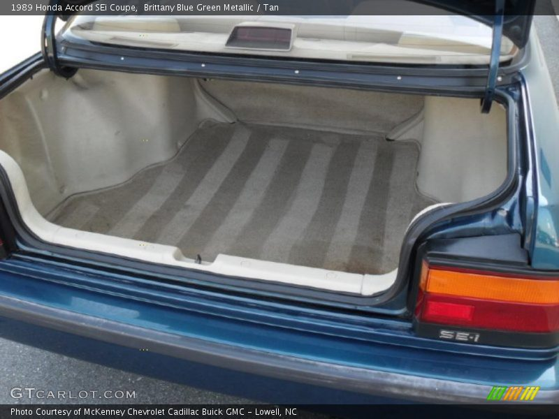 1989 Accord SEi Coupe Trunk