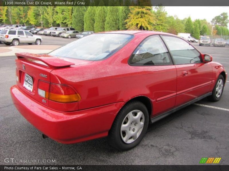 1998 honda civic ex coupe in milano red photo no 38120411. Black Bedroom Furniture Sets. Home Design Ideas