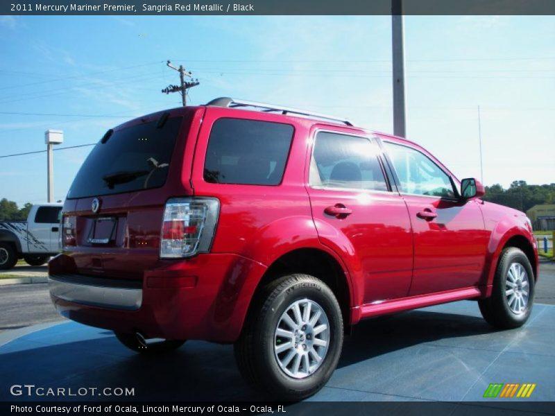 Sangria Red Metallic / Black 2011 Mercury Mariner Premier