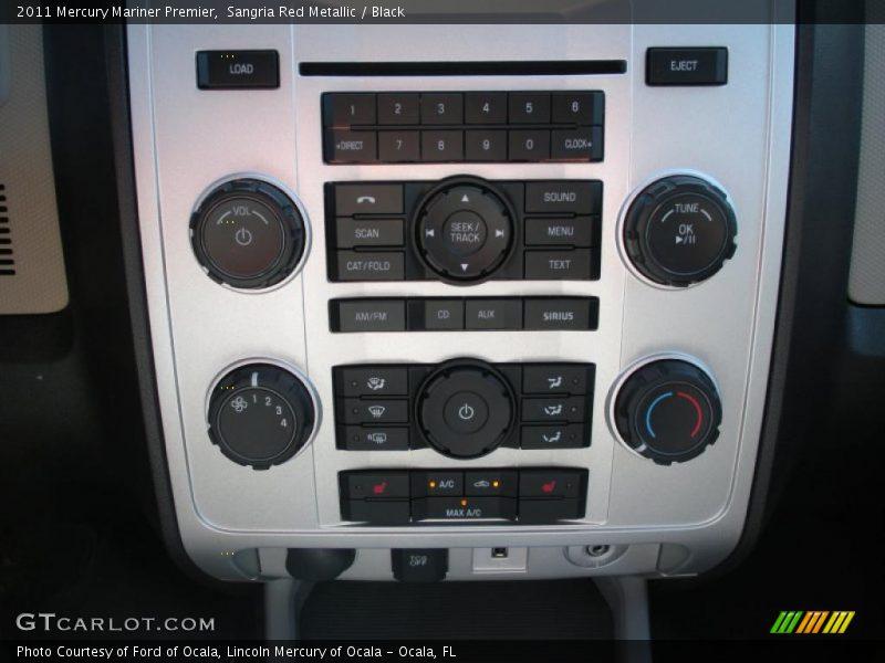 Controls of 2011 Mariner Premier