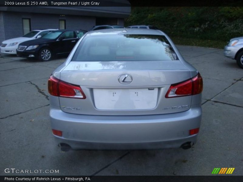 Tungsten Pearl / Light Gray 2009 Lexus IS 250 AWD