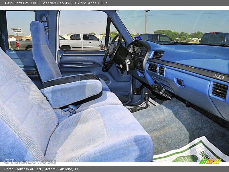 1995 f250 xlt extended cab 4x4 blue interior photo no