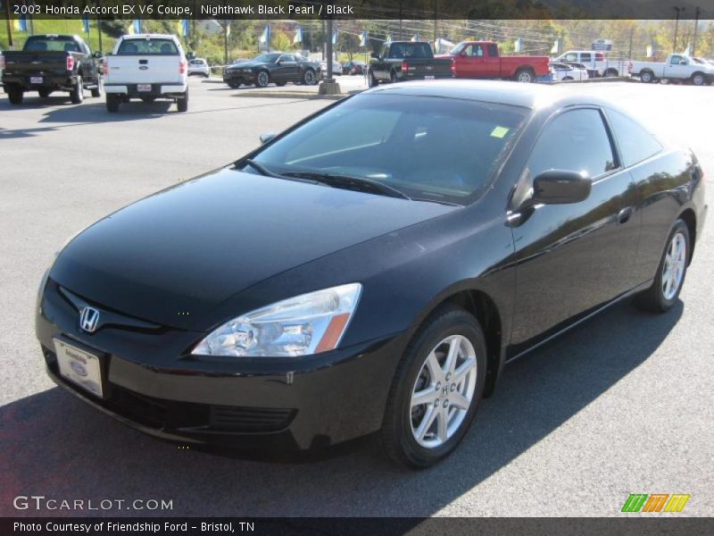 2003 honda accord ex v6 coupe in nighthawk black pearl photo no 38536639. Black Bedroom Furniture Sets. Home Design Ideas