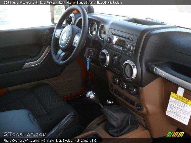 2011 Wrangler Unlimited Rubicon 4x4 Black Dark Saddle Interior Photo No 38589509