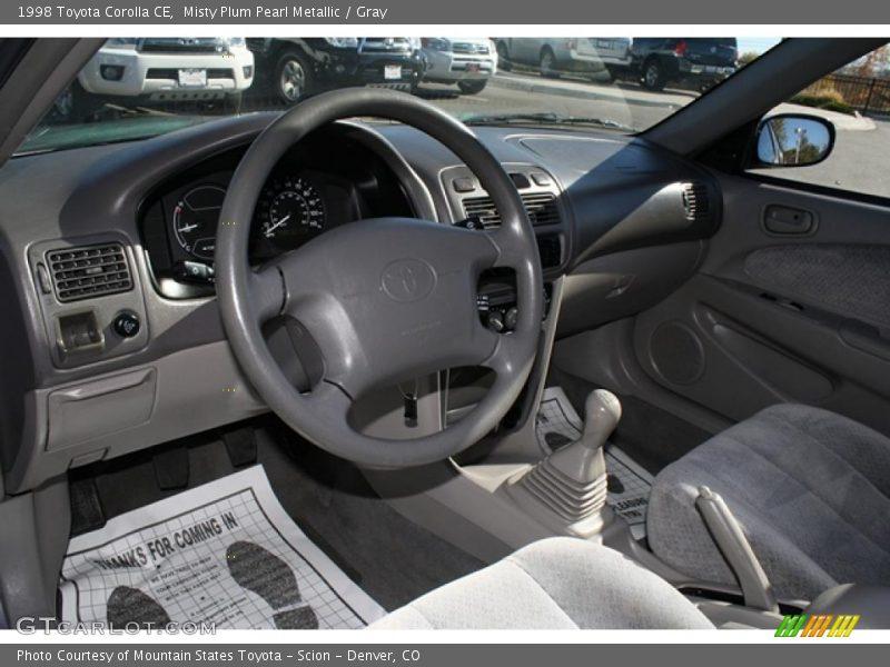 Gray Interior - 1998 Corolla CE