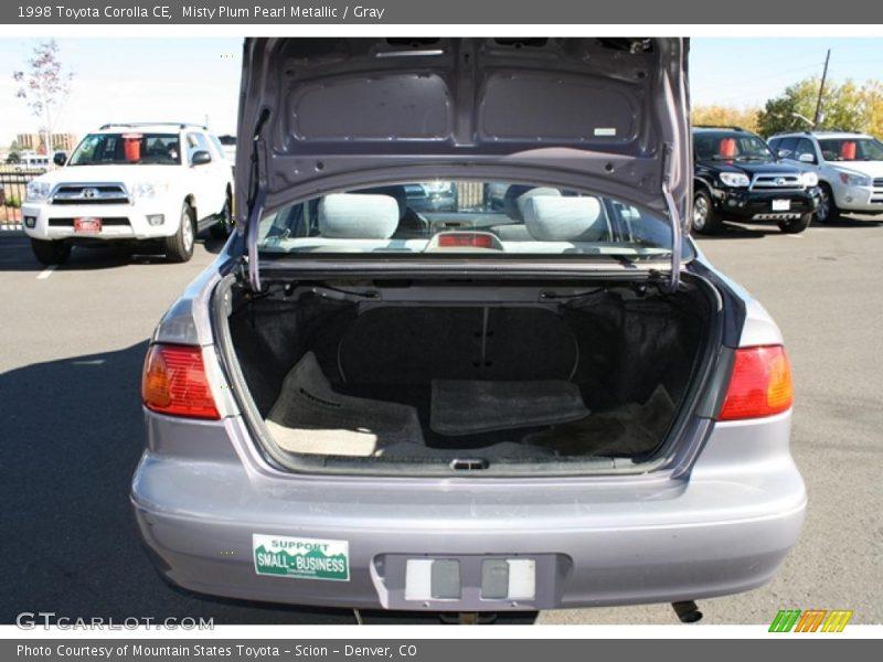 Misty Plum Pearl Metallic / Gray 1998 Toyota Corolla CE