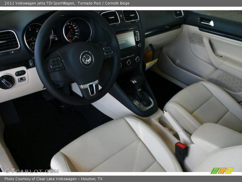 2011 Jetta Tdi Sportwagen Cornsilk Beige Interior Photo No