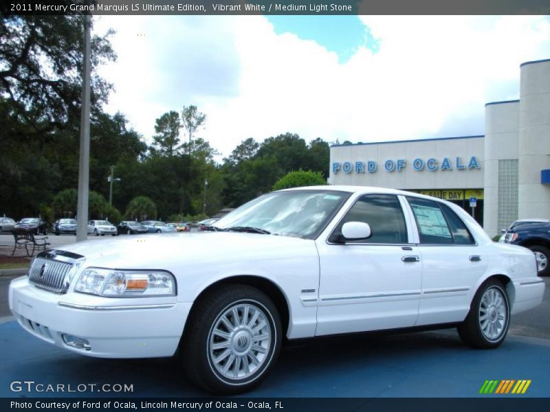 Vibrant White / Medium Light Stone 2011 Mercury Grand Marquis LS Ultimate Edition