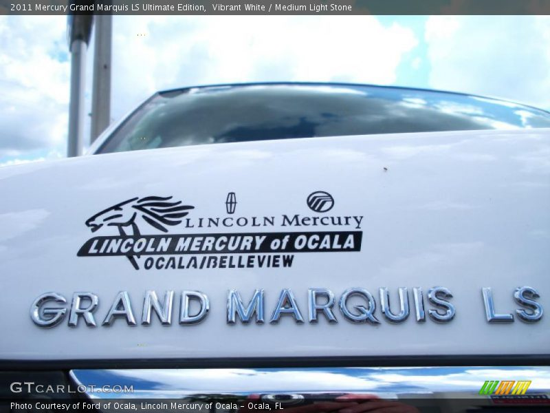 Vibrant White / Medium Light Stone 2011 Mercury Grand Marquis LS Ultimate Edition