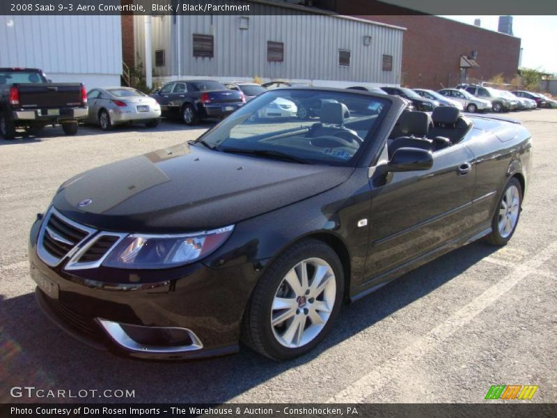 2008 saab 9 3 aero convertible in black photo no 39069839. Black Bedroom Furniture Sets. Home Design Ideas
