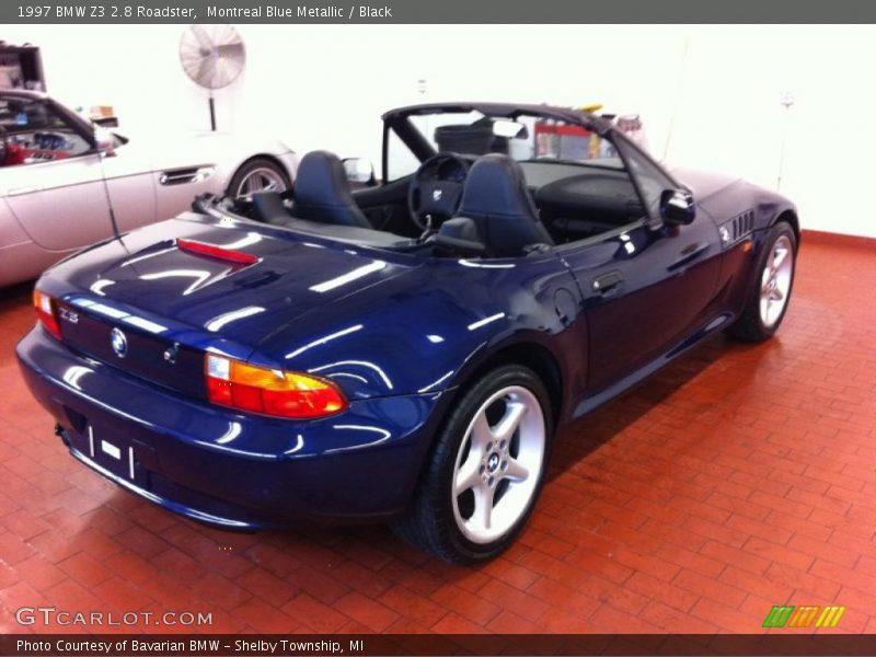 montreal blue metallic black 1997 bmw z3 28 roadster black bmw z3 1997