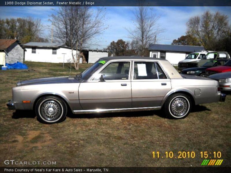 1988 Dodge Diplomat Sedan In Pewter Metallic Photo No