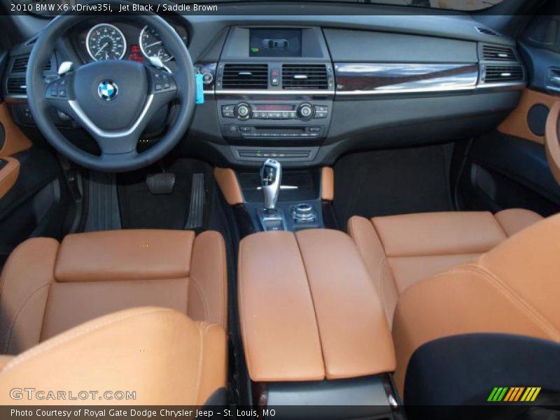 Saddle Brown Interior 2010 X6 Xdrive35i Photo No
