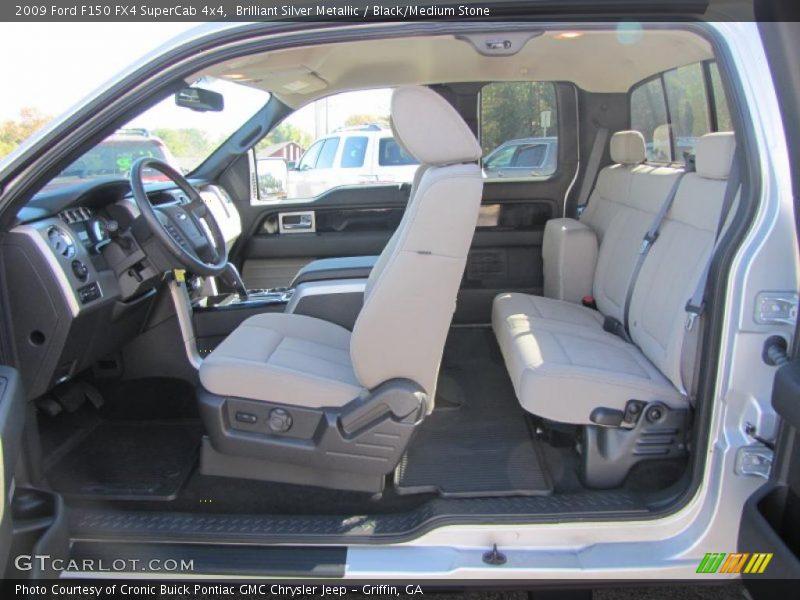 2009 F150 FX4 SuperCab 4x4 Black/Medium Stone Interior