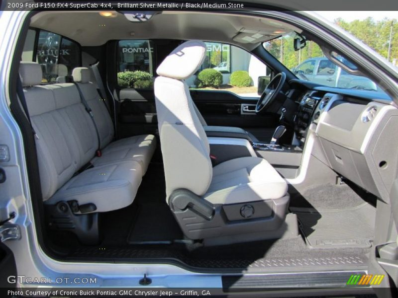 2009 F150 FX4 SuperCab 4x4 Black/Medium Stone Interior