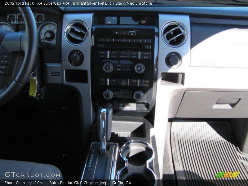 Brilliant Silver Metallic / Black/Medium Stone 2009 Ford F150 FX4 SuperCab 4x4